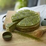 Marmurkowy sernik z zieloną herbatą