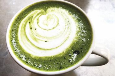 Latte z zielonej herbaty