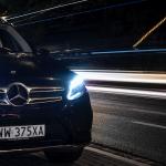 Mercedesa GLE - nocna jazda bez celu