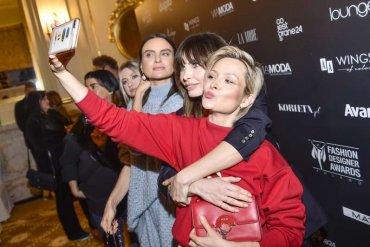 Agnieszka Dygant iDawid Woliński – selfie naspotkaniu 10. edycji Fashion Designer Awards!
