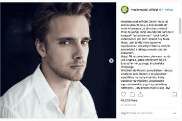 Maciej Musiał naliście młodych wpływowych Forbesa!